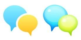 三种风格对话气泡PNG图标