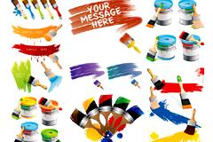 油漆元素矢量图素材