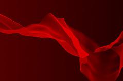 红色丝绸飘带PSD分层素材