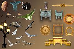 中国古典元素psd素材
