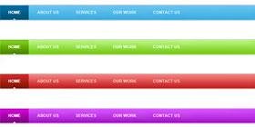 4色CSS导航菜单(附PSD文件)