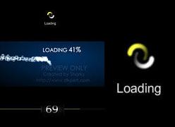 三款创意设计Flash loading素材源文件