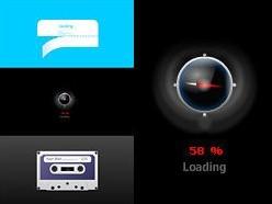 3款创意flash loading素材源文件