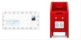 信件和信封PNG图标