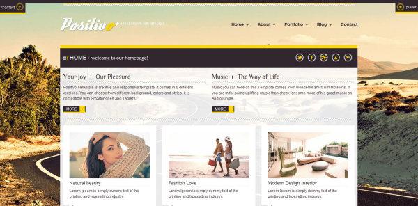 设计师个人主页模板html源文件-2