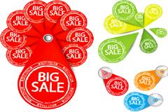 个性销售标牌矢量素材
