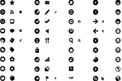 黑白网页设计小图标矢量素材