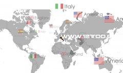 多国家语言flash地图,片头flash网站素材