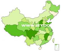 绿色风格:flash矢量中国地图素材