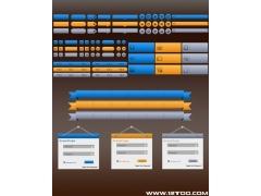 一套三色网页元素PSD素材